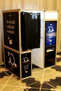 photobooth med branding (digital + foliering) till företagsfest