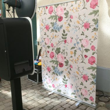 "photo booth backdrop ""flowers"" 150x200cm"