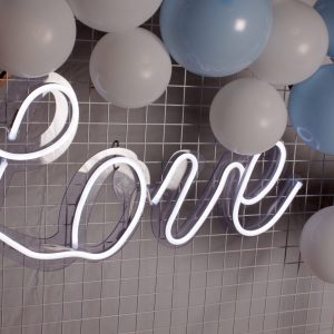 led neon bröllop lysande text love